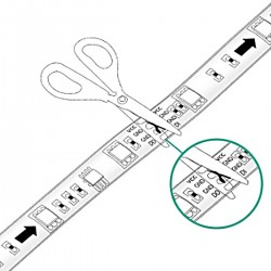 Ruban led 5 mètres bleu 300led smd3528 IP65
