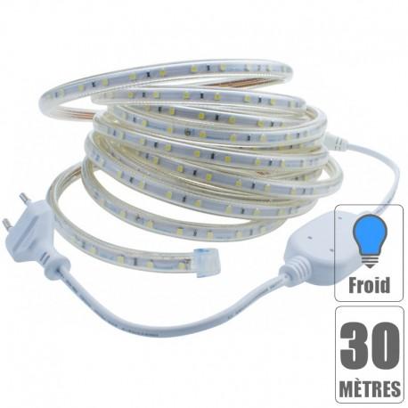Kit ruban led 220V 30 mètres Blanc froid étanche IP67