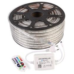 Kit 10 mètres ruban led RGB 220V étanche IP67