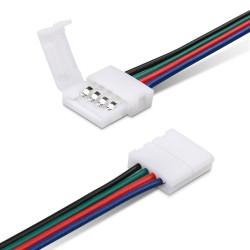 Pack x5 Connecteur rallonge ruban led RGB 12v sans soudure
