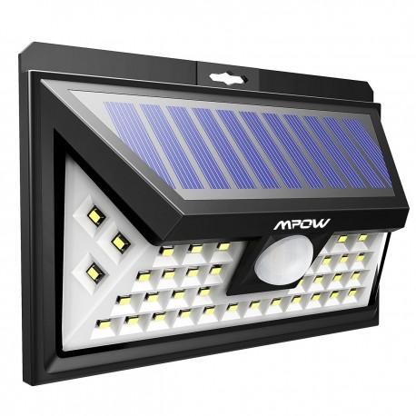 Projecteur led spot solaire mural avec detecteur de mouvement