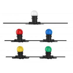 Guirlande LED 10 mètres RGB style guiguette étanche 10 ampoules E27