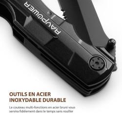 Pince Multifonction 5-en-1 Couteau Suisse RAVPower Outil Multifonctions de Poche