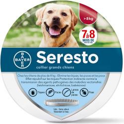 SERESTO Chien – Collier Anti-Puces et Anti-Tiques pour Grands Chiens - 8KG Et Plus